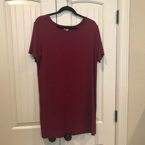 Medium Piko 1988 Short Sleeved Dress Crimson Red
